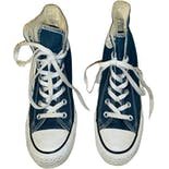00's Converse Allstar Navy Blue Wedge Sneakers by Converse