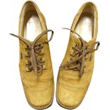 90's Brown Suede Leather Lace Up Sport Shoes by Salvatore Ferragamo