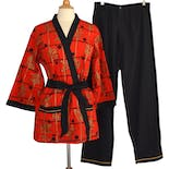 80's Unisex Japanese Style Pajama Set by Kabuki Sleepwear By Weldon