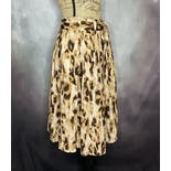 another view of 90's Animal Print Cotton Skirt by Allison Taylor