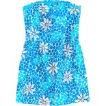 00's Floral Leopard Tube Dress by Lilly Pulitzer