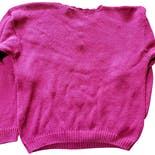 another view of 90's Fuschia Floral Argyle Pearl Button Sweater by Colleen's Collectables