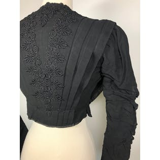 Edwardian Black Cropped Jacket