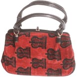 80's Carpet Bag Top Handle Purse