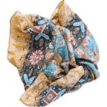 another view of Watercolor Tones Silk Scarf