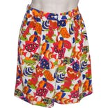 Bright Fish Patterned Silk Shorts by Billy Kidd