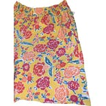 another view of 70's/80's Yellow Floral Shorts