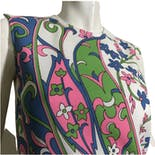 another view of 70's Pink and Green Sleeveless Tunic Top by Smartique
