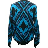 another view of 90's Geometric Pullover Sweater by Koman