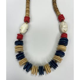 80's Flat Beaded Necklace