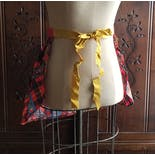 another view of 70's Plaid and Paisley Apron