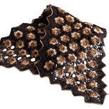 70's Handmade Floral Crochet Long Rectangular Scarf