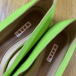 another view of 00's Lime Green Ribbon Flats