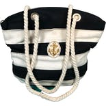 90's Anchor Striped Rope Bag