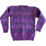 another view of 90's Purple Fair Isle Wool Sweater by Ralph Lauren