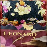 another view of 70's Large Bird And Duck Patterned Silk Square Scarf by Leonard