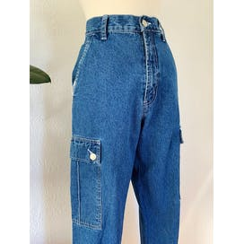 90's Medium Wash High Rise Carpenter Denim by Revolt