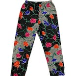 another view of 80's Colorful Silky Floral Pants