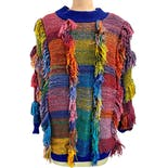 Rainbow Shag Fringe Sweater