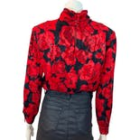 another view of Roses Are Red Blouse by Original