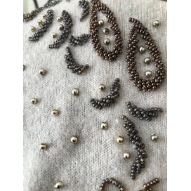50's Beaded Sweater