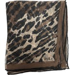another view of Sheer Leopard Print Scarf by Vera