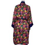 another view of 90's Gold Label Floral Kimono Robe by Victoria's Secret