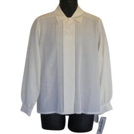 Cream Sheer Long Sleeve Blouse by Yves St. Clair