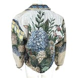another view of 90's Floral Tapestry Woven Blanket Jacket Coat by Painted Pony