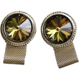 60's Watermelon Stone Gold Cuff Links by Dante