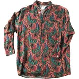 90's Colorful Paisley Button Down by Guess? Georges Marciano