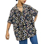 80's Geometric Button Down by Donnkenny