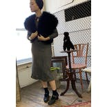 another view of 80's Fluffy Black Marabou Bolero Jacket by Sak's Fifth Avenue