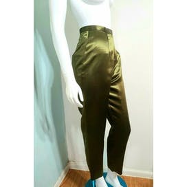 ShantungSilk Tapered Pants Suit by Oscar De La Renta