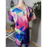 another view of Mulitcolor Geometric Romper by Mr & Miss