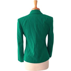 80's Tailored Jade Green Blazer Jacket by Miss Pendleton