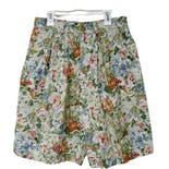90's Floral Print High Waist Pleated Shorts by Bushwacker