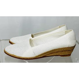 80's White Espadrille Wedges by Evan Picone Sport
