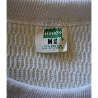 70's Waffle Knit Thermal Shirt by Hanes