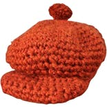 90's Orange Knit Slouch Newsboy Hat