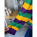 another view of New Orleans Green Purple and Yellow Striped Hoodie by Jjj Sports