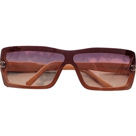 Brown Square Sunglasses by Chanel