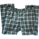 60's Green and Blue Mens Plaid Pants by John Weitz By Glen Oaks