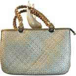 another view of Tan Summer Straw Handbag by Pier Giorgio