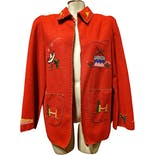 Red Mexican Embroidered Tourist Jacket by Mike's Mgf.