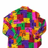another view of 80's Colorful Sequined Abstract Blouse by Starington