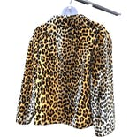 another view of 70's/80's Leopard Print Jacket by I. Magnin