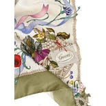 another view of 60's Floral and Butterfly Print Silk Scarf by Gucci