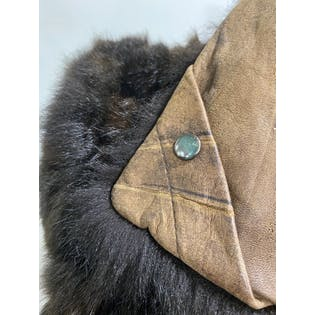 00's Leather And Fur Vest