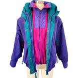 90's Two-in-One Color Blocked Jacket by Columbia Sportswear Company